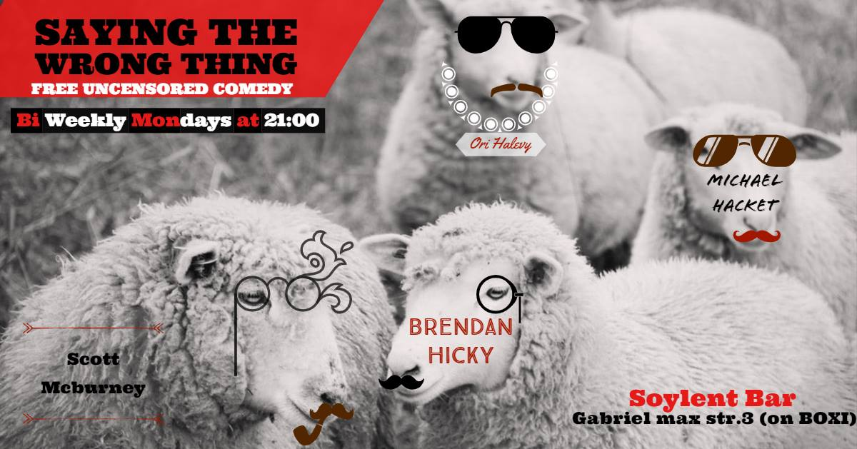 Saying the wrong thing – Free uncensored comedy showcase in Friedrichshain!