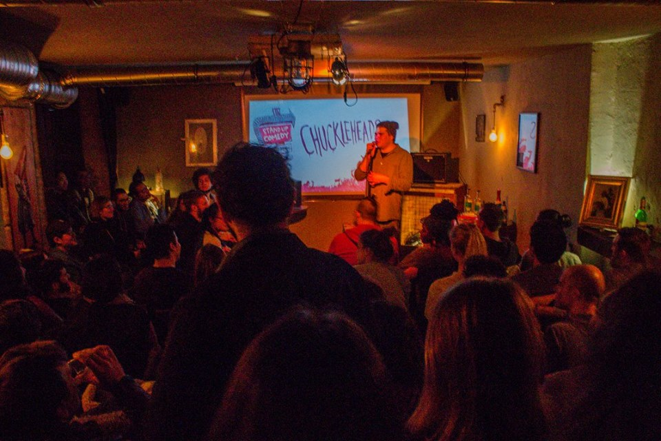 Chuckleheads – English Comedy Show			Neukölln 								Thu Feb 27 @ 8:30 pm - 11:00 pm|Recurring Event (See all)An event every week that begins at 8:30 pm on Thursday, repeating indefinitely