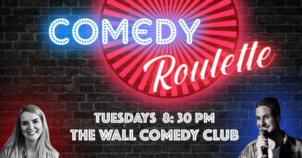 Comedy Roulette – English Open Mic			FriedrichshainKreuzbergPrenzlauer Berg 								Tue Feb 25 @ 8:30 pm - 10:30 pm|Recurring Event (See all)An event every week that begins at 8:30 pm on Tuesday, repeating indefinitely