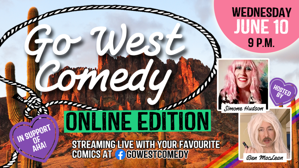 Go West Comedy Online Edition! #2			Schöneberg 								Wed Jun 10 @ 9:00 pm - 10:00 pm
