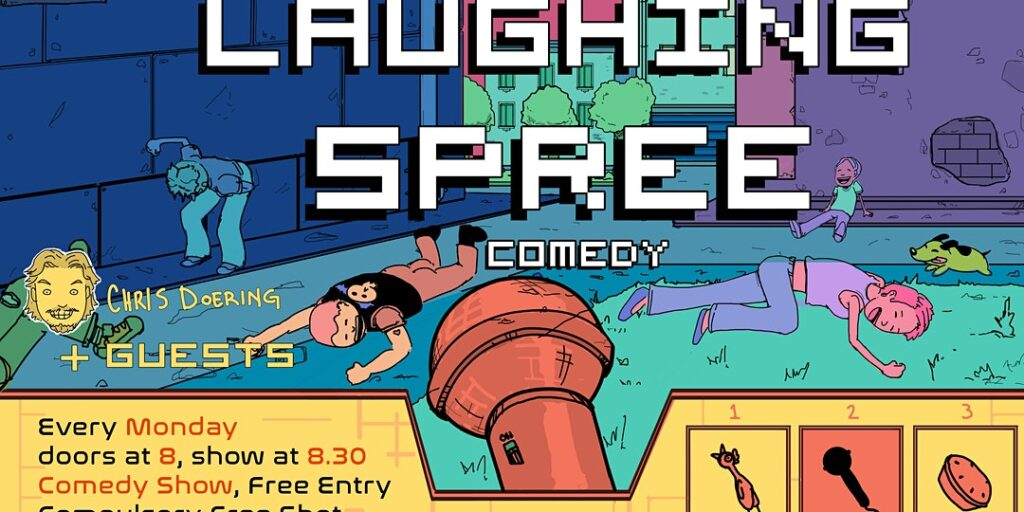 Free Entry English Comedy Show – Laughing Spree 29.06.			 Friedrichshain  								Mon Aug 2 @ 6:30 pm - 10:30 pm|Recurring Even...