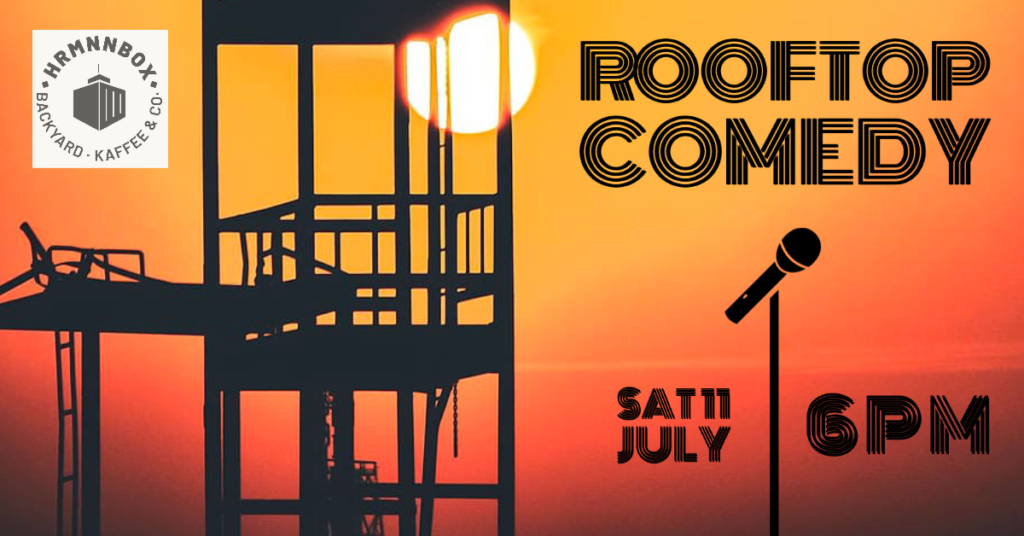 Rooftop Comedy #3 Sat Jul 11 @ 6:00 pm - 7:30 pm