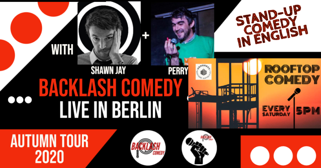 Rooftop Comedy #13 – Backlash Tour Special			 								Sat Sep 26 @ 5:00 pm - 6:30 pm