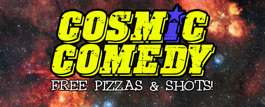 Cosmic Comedy Club Berlin with Free Vegetarian & Vegan PizzaMitte Thu Oct 29 @ 7:45 pm - 10:45 pm|Recurring Event (S...